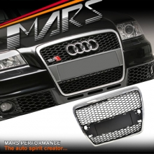 Chrome Black RS HONEYCOMB Style Front Bumper Grille for AUDI A6 4F 05-11