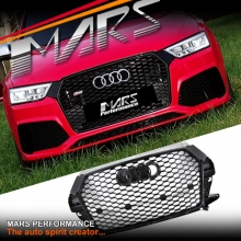 Gloss Black Honeycomb RS-Q3 Style Front Bumper Bar Grille for AUDI Q3 8U MY15-MY17