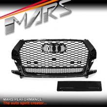 Gloss Black QUATTRO RS-Q3 Style Front Bumper Bar Grille for AUDI Q3 8U MY16-MY17