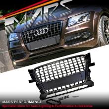 Matt Black S-Line Style Front Bumper Bar Grille for AUDI Q5 8R 09-12