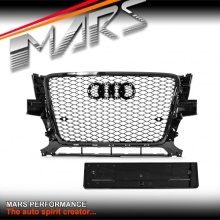 Gloss Black Honeycomb RS-Q5 Style Front Bumper Bar Grille for AUDI Q5 8R 09-12