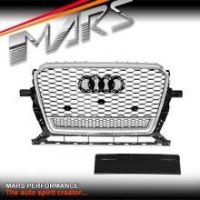 Chrome Black QUATTRO RS-Q5 Style Front Bumper Bar Grille for AUDI Q5 8R 13-16