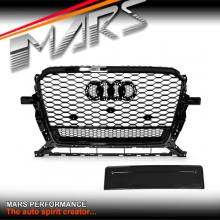 Gloss Black QUATTRO RS3 Style Front Bumper Bar Grille for AUDI Q5 8R 13-16