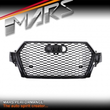 Gloss Black Honeycomb RS-Q7 Style Front Bumper Bar Grille for AUDI Q7 4M MY15-MY17