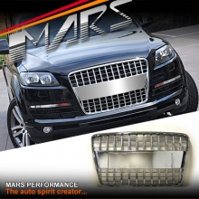 Full CHROME S-LINE STYLE FRONT BUMPER BAR GRILLE FOR AUDI Q7 05-15