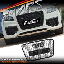 Gloss Black Honeycomb RS-Q7 Style Front Bumper Bar Grille for AUDI Q7 06-15