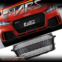 Gloss Black QUATTRO RS-TT Style Honeycomb Front Bumper Bar Grille for AUDI TT FV MY15+