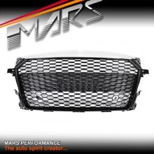 Gloss Black QUATTRO RS-TT Style Honeycomb Front Bumper Bar Grille for AUDI TT FV MY15+