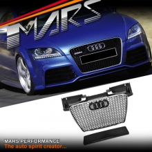 Chrome Black Honeycomb RS-TT Style Front Bumper Bar Grille for AUDI TT 8J 06-14