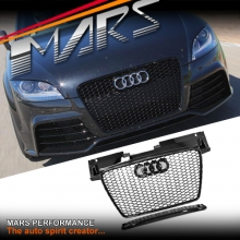 Gloss Black Honeycomb RS-TT Style Front Bumper Bar Grille for AUDI TT 8J 06-14