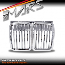 Chrome Silver M3 style Front Grille for BMW E30 83-91