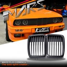 Matt Black M3 style Front Grille for BMW E30 83-91