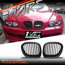 Matt Black M Style Front Kidney Grille for BMW Z3 E36-7 96-03