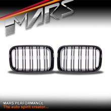 Gloss Black M4 style Front Kidney Grille for BMW E36 91-96 Sedan Coupe Convertible