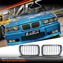 Chrome M3 style Front Kidney Grille for BMW E36 91-96 Sedan Coupe Convertible