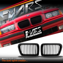 Matt Black M3 style Front Grille for BMW E36 97-98 Sedan Coupe Convertible