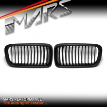 Matt Black M Style Front Kidney Grille for BMW E38 7 Series 95-02