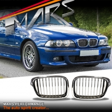 Chrome Silver M5 style front kidney grille for BMW E39 Sedan & Wagon