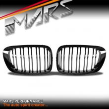Gloss Black M4 style Front Kidney Grille for BMW E46 2D Coupe Convertible 99-02 Pre Facelift LCi & M3