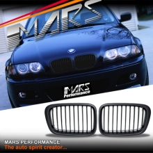 Matt Black M3 style Front Kidney Grille for BMW E46 4D Sedan 98-01 Pre LCI Facelift model