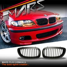 Matt Black M3 style Front Kidney Grille for BMW E46 LCI Sedan & Wagon 02-04