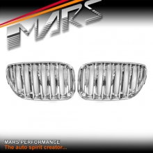 Full Chrome X5M Style Front Kidney Grille for BMW X5 E53 LCI 04-06