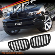 Matt Black X5M Style Front Kidney Grille for BMW X5 E53 LCI 04-06