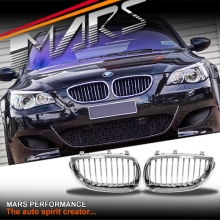 Chrome Silver M5 style Front Kidney Grille for BMW E60 E61 03-09, include M5.