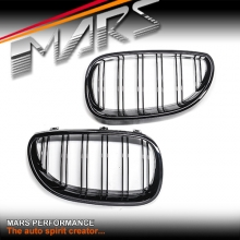 Gloss Black M5 style Front Kidney Grille for BMW E60 E61 03-09, include M5