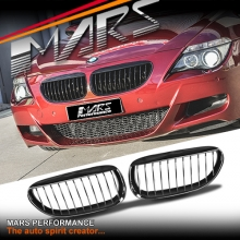Gloss Black M6 Style Front Kidney Grille for BMW 6 Series E63 E64 Coupe & Convertible