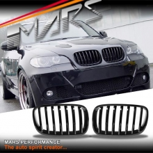 Gloss Black X5M Style Front Kidney Grille for BMW X5 E70 07-13