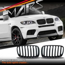 Matt Black X5M Style Front Kidney Grille for BMW X5 E70 07-13