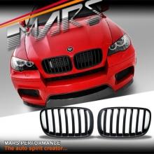 Matt Black X6M style Front Kidney Grille for BMW X6 E71 08-14