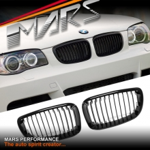 Gloss Black 1M style Front Kidney Grille for BMW E87 E81 E82 E88 08-13