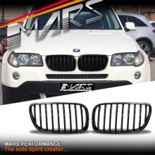 Gloss Black M Style Front Bumper Bar Kidney Grille for BMW X3 E83 LCI 07-11