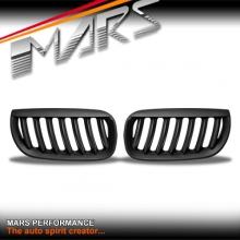 Matt Black M6 Style Front Bumper bar Kidney Grille for BMW X3 E83 04-07 Pre LCI