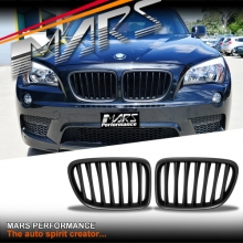Matt Black M Style Front Bumper bar Kidney Grille for BMW X1 E84 09-14