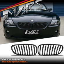 Gloss Black M Style Front Bumper Bar Kidney Grille for BMW Z4 E85 E86 03-08