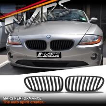 Matt Black M Style Front Bumper Bar Kidney Grille for BMW Z4 E85 E86 03-08