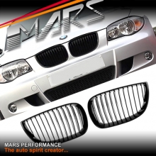 Gloss Black 1M Style Front Kidney Grille for BMW E87 E81 Hatch Pre LCI 04-10
