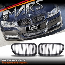 Gloss Black M4 style front kidney grille for BMW E90 Sedan & E91 Wagon 09-11 LCI