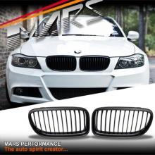 Matt Black M3 style front grille for BMW E90 Sedan & E91 Wagon 09-11 LCI