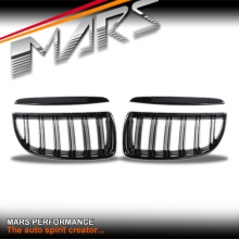 Gloss Black M4 style Front Kidney Grille for BMW E90 Sedan & E91 Wagon 05-08
