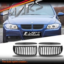 Gloss Black M3 style Front Kidney Grille for BMW E90 Sedan & E91 Wagon 05-08