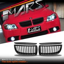Matt Black M3 style Front Kidney Grille for BMW E90 Sedan & E91 Wagon 05-08