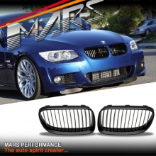 Gloss Black M3 Style Front Grille for BMW 3 Series E92 Coupe & E93 Convertible LCI 10-13
