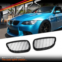 Gloss Black M3 Style Front Grille for BMW 3 Series E92 Coupe & E93 Convertible Pre LCI 06-09