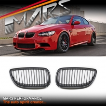 Matt Black M3 Style Front Grille for BMW 3 Series E92 Coupe & E93 Convertible Pre LCI 06-09