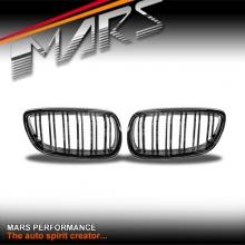 Gloss Black M4 Style Front Grille for BMW 3 Series E92 Coupe & E93 Convertible Pre LCI 06-09