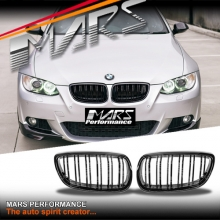 Gloss Black M4 Style Front Grille for BMW 3 Series E92 Coupe & E93 Convertible Pre LCI 06-09